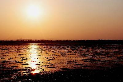 Photograph - African Sunset At Kuti In Malawi 01 by Dora Hathazi Mendes