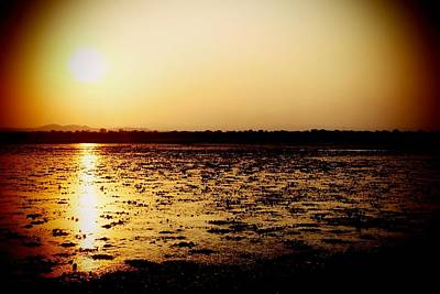 Photograph - African Sunset At Kuti In Malawi 02 by Dora Hathazi Mendes