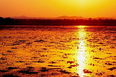 Photograph - African Sunset At Kuti In Malawi 03 by Dora Hathazi Mendes