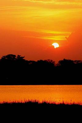 Photograph - African Sunset At Shire River In Malawi 02 by Dora Hathazi Mendes