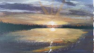 Painting - African Sunset by Lorraine Bradford