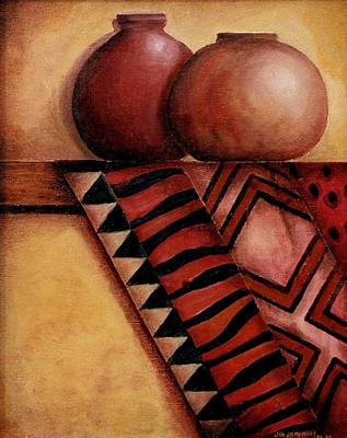 Mantel Painting - African Touch by Jun Jamosmos