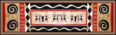Digital Art - African Tribal Ritual Dance by Vagabond Folk Art - Virginia Vivier