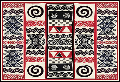 Digital Art - African Tribal Ritual Design by Vagabond Folk Art - Virginia Vivier