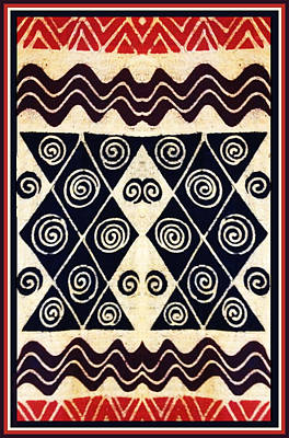 Digital Art - African Tribal Textile Design by Vagabond Folk Art - Virginia Vivier