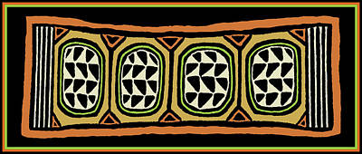 Digital Art - African Tribal Textile by Vagabond Folk Art - Virginia Vivier