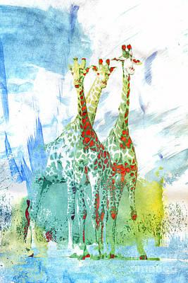 Creative Manipulation Digital Art - African Trio by Jutta Maria Pusl