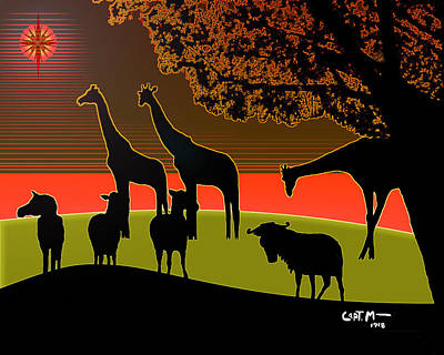 Digital Art - African Veldt At Christmas by Mickey Wright