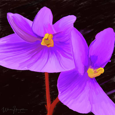 Painting - African Violet 01 by Wally Hampton
