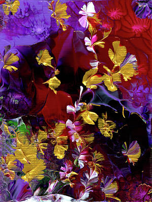 Painting - African Violet Awake #3 by Nan Bilden