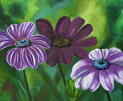 Painting - African Violets by Donna Drake