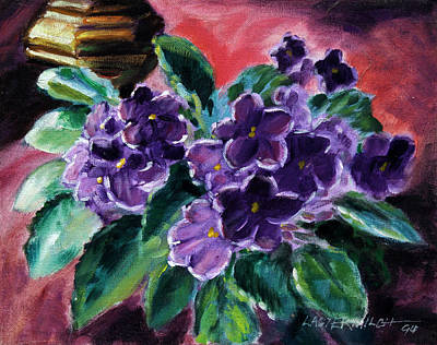 African Violets Art Print by John Lautermilch