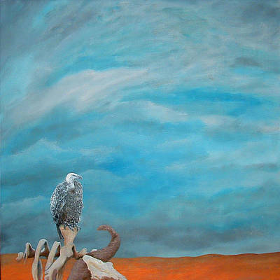 Daniel Wall Painting - African Vulture by Daniel Wall