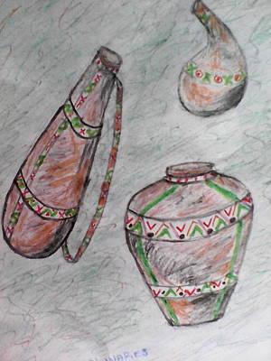 Sour Drawing - African Wares by John Ngaruiya