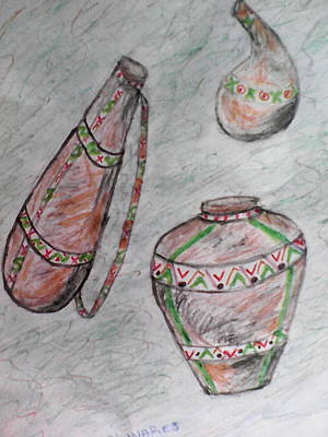 African Wares Art Print