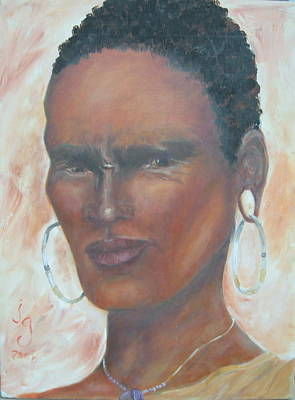 African Warrior Art Print by Judie Giglio
