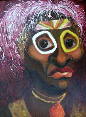 African Warrior Art Print by Suzanne  Marie Leclair