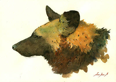 Spotted Painting - African Wild Dog by Juan  Bosco
