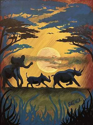 Painting - African Wild by Sean Ivy aka Afro Art Ivy