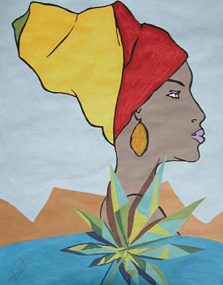 Goddess Painting - Ganja Goddess  by Stormm Bradshaw
