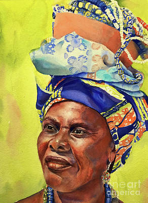 Painting - African Woman by Kathy Flood
