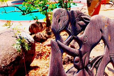 Photograph - African Wood Carving 01 by Dora Hathazi Mendes