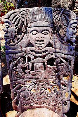 Photograph - African Wood Carving 02 by Dora Hathazi Mendes
