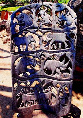 Photograph - African Wood Carving 03 by Dora Hathazi Mendes