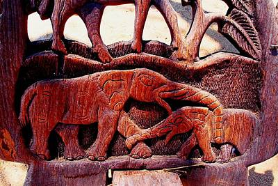 Photograph - African Wood Carving 05 by Dora Hathazi Mendes