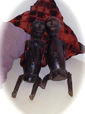 Exploramum Photograph - African Wooden Dolls by Exploramum Exploramum