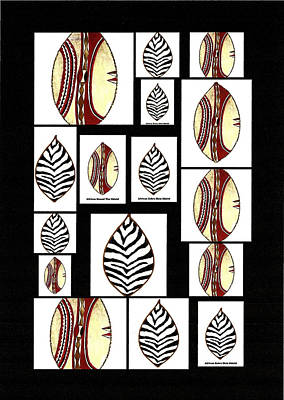 Tribal Art Painting - African Tribal Shields by Michael Vigliotti