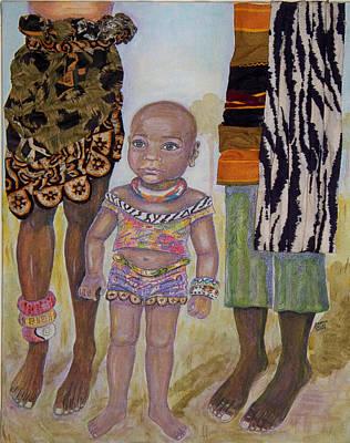 Afrik Girl Art Print
