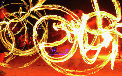 Photograph - Fire Dancers by Carmen Tosca