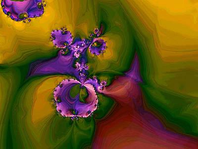 Digital Art - Afrikan Violets by Alexandru Bucovineanu