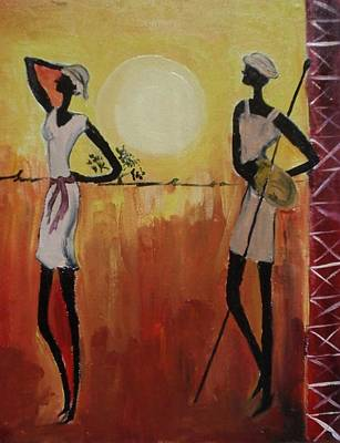Colourfull Painting - Afro Abstract by Shilpa Mehta