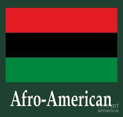 Afro-american Flag And Name Original