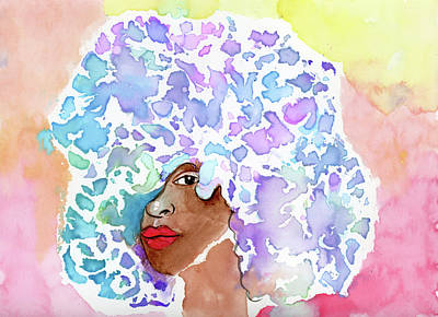 Painting - Afro Bliss by Unicia Buster