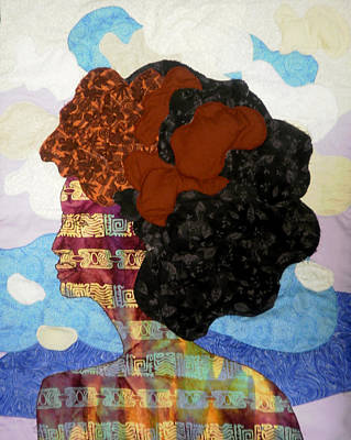 Tapestry - Textile - Afro Clouds by Unicia Buster