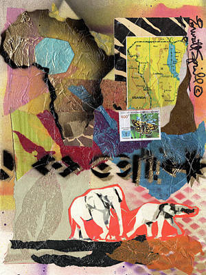 Wynton Marsalis Mixed Media - Afro Collage - M by Everett Spruill