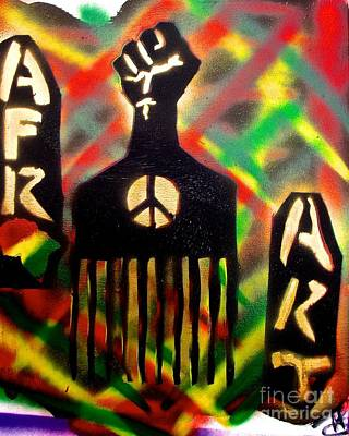 Conscious Painting - Afro Fist Pick by Tony B Conscious
