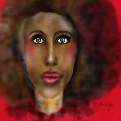 Digital Art - Afro Lady by Sladjana Lazarevic