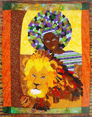 Tapestry - Textile - Afro Mane by Unicia Buster