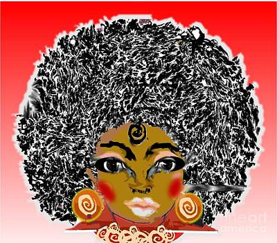 Painting - Afro Power by Belinda Threeths