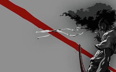 Airplane Digital Art - Afro Samurai by Maye Loeser