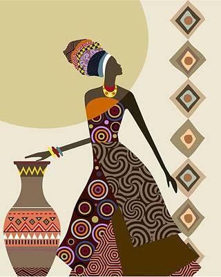 Afrocentric Chic IIi Art Print