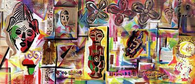 Mixed Media - Afrocopia by Everett Spruill