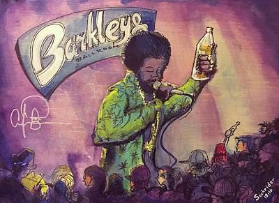 Painting - Afroman At Barkleys by David Sockrider