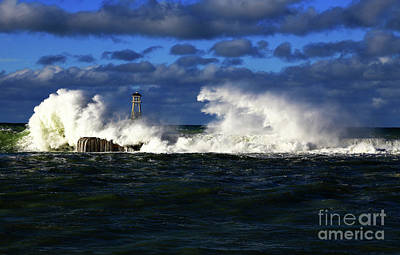 Photograph - After A Big Storm The Waves Seem To Be Having A Bad Hair Day by Nareeta Martin