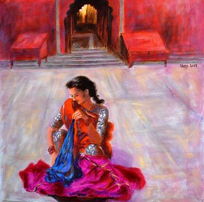 After A Dip In The Ganges Art Print by Uma Krishnamoorthy