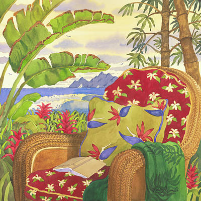 Bamboo Chair Digital Art - After A Long Day At The Beach by Robin Wethe Altman